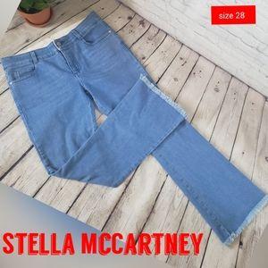 Stella McCartney Frayed Hem Blue Jeans Sz 28